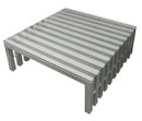 City Stainless Steel Square Coffee Table