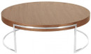 Ross Round Coffee Table Walnut