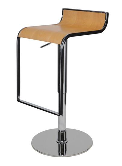 Nuevo Nero Adjustable Bar Stool Lem Style Modern