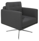 Maxwell Grey Lounge Chair by Nuevo - HGAF252 - Armchairs