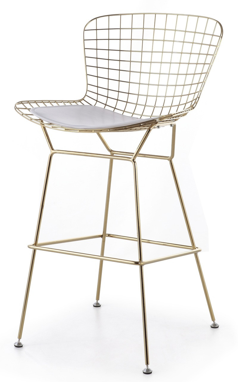Bertoia Bar Stool In Gold Advancedinteriordesigns Com