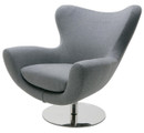 Nuevo Conner Lounge Chair Light Gray Wool HGDJ754