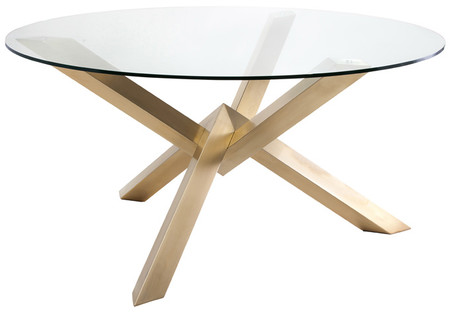 Nuevo Costa Dining Table With Gold Base HGTB271