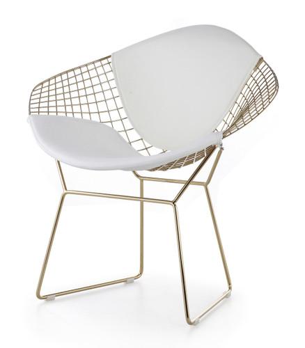 Bertoia Diamond Chair In Gold Finish