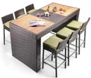 Bayline 7 Piece Patio Bar Dining Set