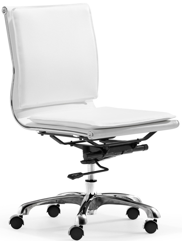 lider plus armless office chair in white or black office chairs