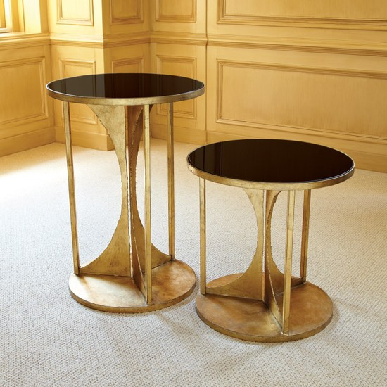 Hourglass Table Antique Gold