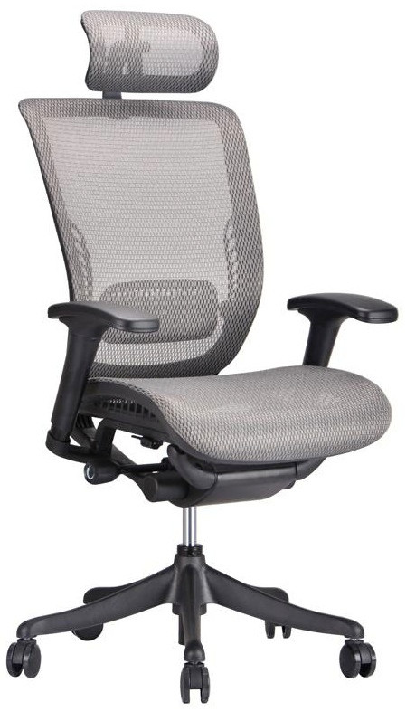 Exceptional Ergo Grey Mesh Ergonomic Office Chair