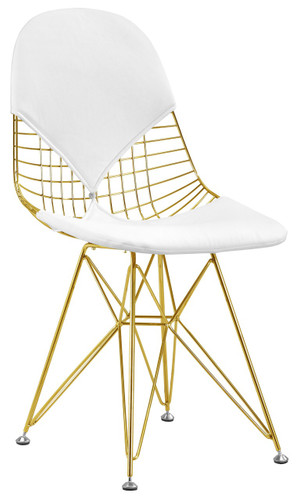 Wire Chair In Gold Finish