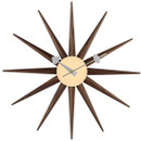 Gorge Nelson Walnut Sunburst Clock