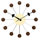 Ball Clock Walnut