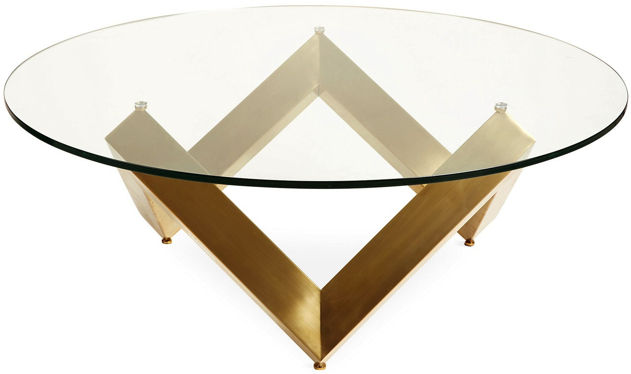 nuevo como coffee table polished or gold base - best price | free