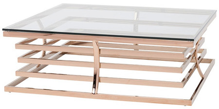 Nuevo Qubix Coffee Table In Rose Gold Home And Office