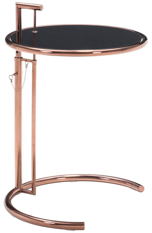 Zuo Eileen Gray Table Rose Gold Side Tables End Tables - Eileen gray end table
