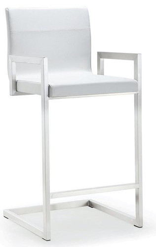 Modern Fortuna Counter Stool Fixed Height With Arms