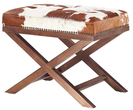 Otto Natural Cowhide Ottoman Cowhide Ottomans And Stools