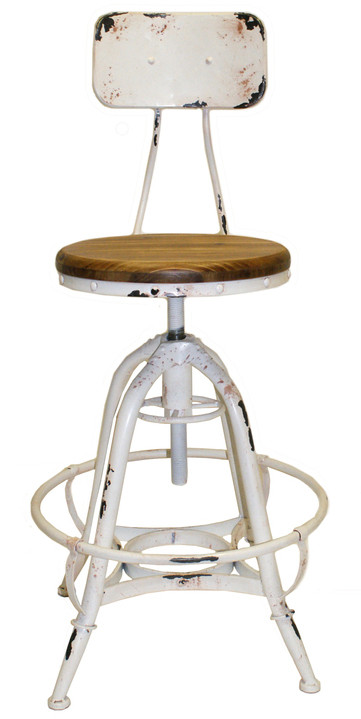 Merveilleux Henry Industrial Design Adjustable Height Counter Stool