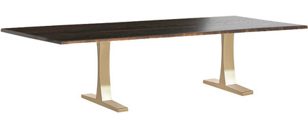 Toulouse Dining Table In Brushed Gold