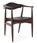Aline Leather Dining Arm Chair Danish Armchair