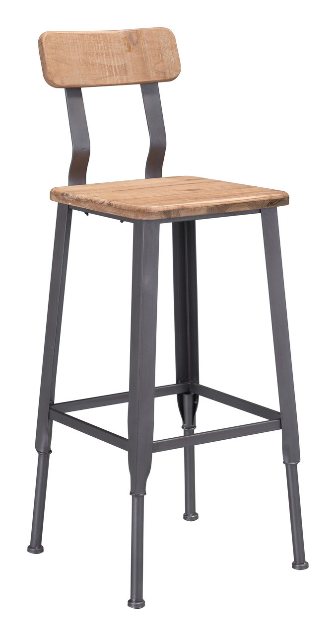 Clay Bar Chair Natural Pine U0026 Industrial Gray