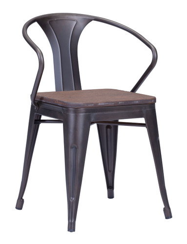 Helix Dining Chair Rustic Wood