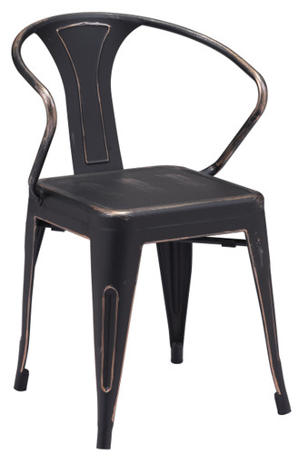 Helix Dining Chair Antique Black Gold