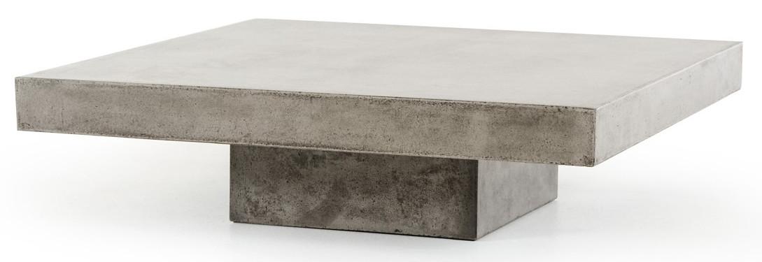 concrete top coffee table - Benciveni Concrete Top Coffee Table, Concrete Square Coffee Table