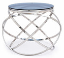 modern glass end table