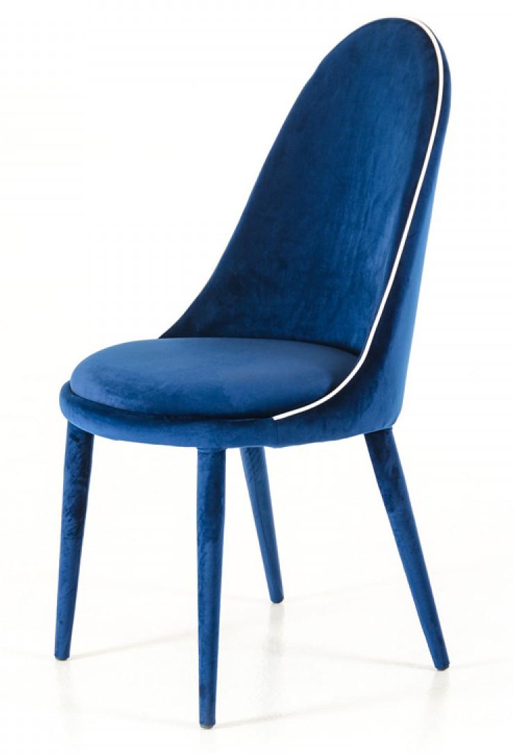 Marvelous Blue Velvet Dining Chairs