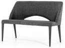 gray fabric bench