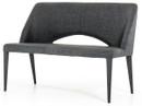 gray fabric bench
