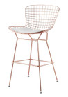Bertoia Counter Stool In Rose Gold Finish