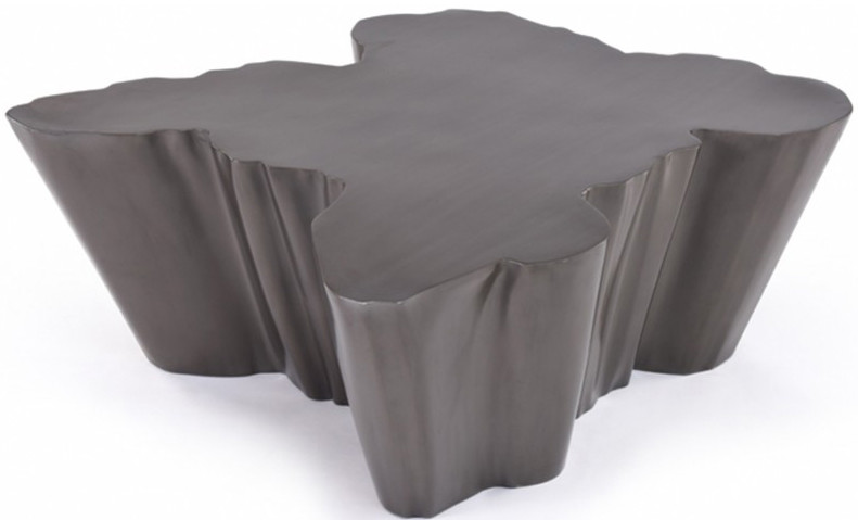 wayne gunmetal coffee table - black lacquer coffee table