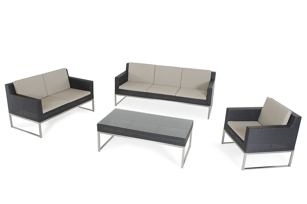 Fakistra Black Ratta Sofa Set Black Rattan Sofa Set