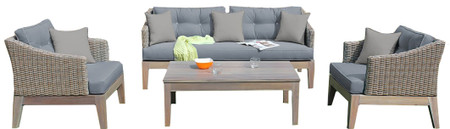 outdoor gray sofa set