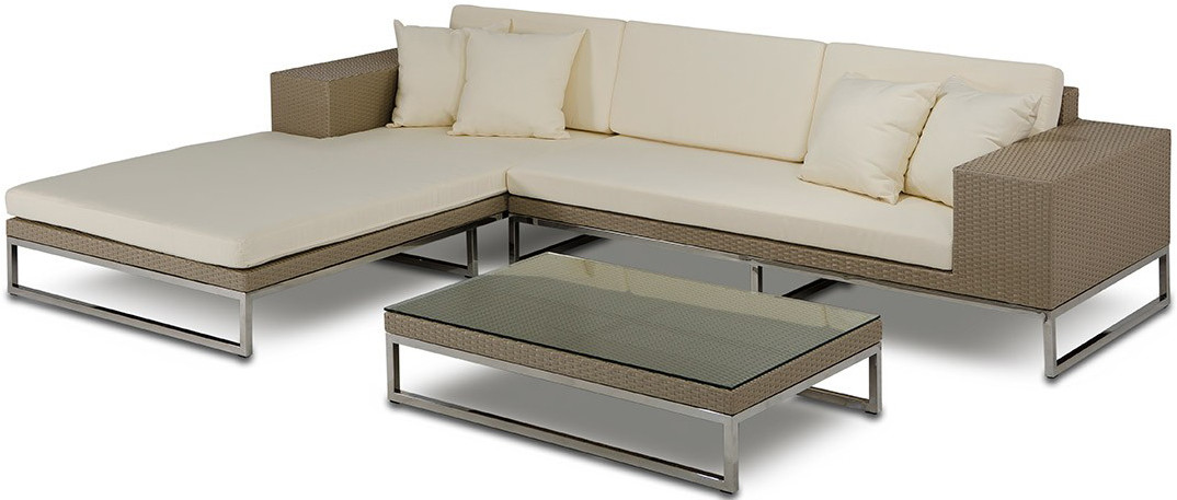 The Tahiti Low Profile Outdoor Modern Sectional Patio Furniture