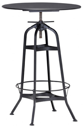 spartan bar table antique black