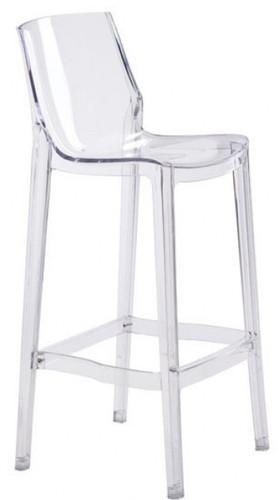 Phantom bar chair clear clear acrylic chair for Chaise design phantom