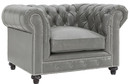 grey chesterfield armchairs