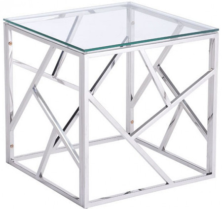Cage Side Table Stainless Steel