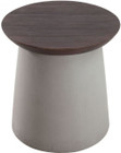 Henge Side Table Cement & Walnut