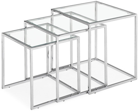 Zuo Modern Pasos Nesting Tables Chrome
