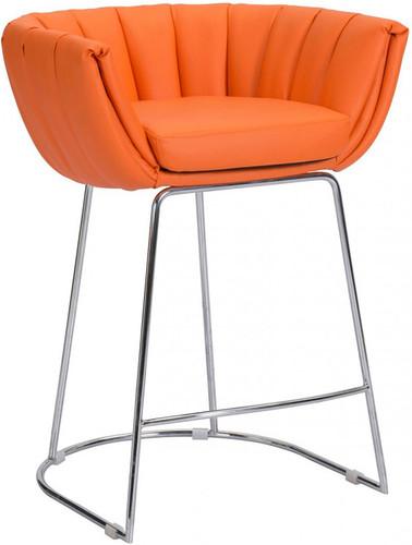Zuo Modern Latte Counter Chair Orange