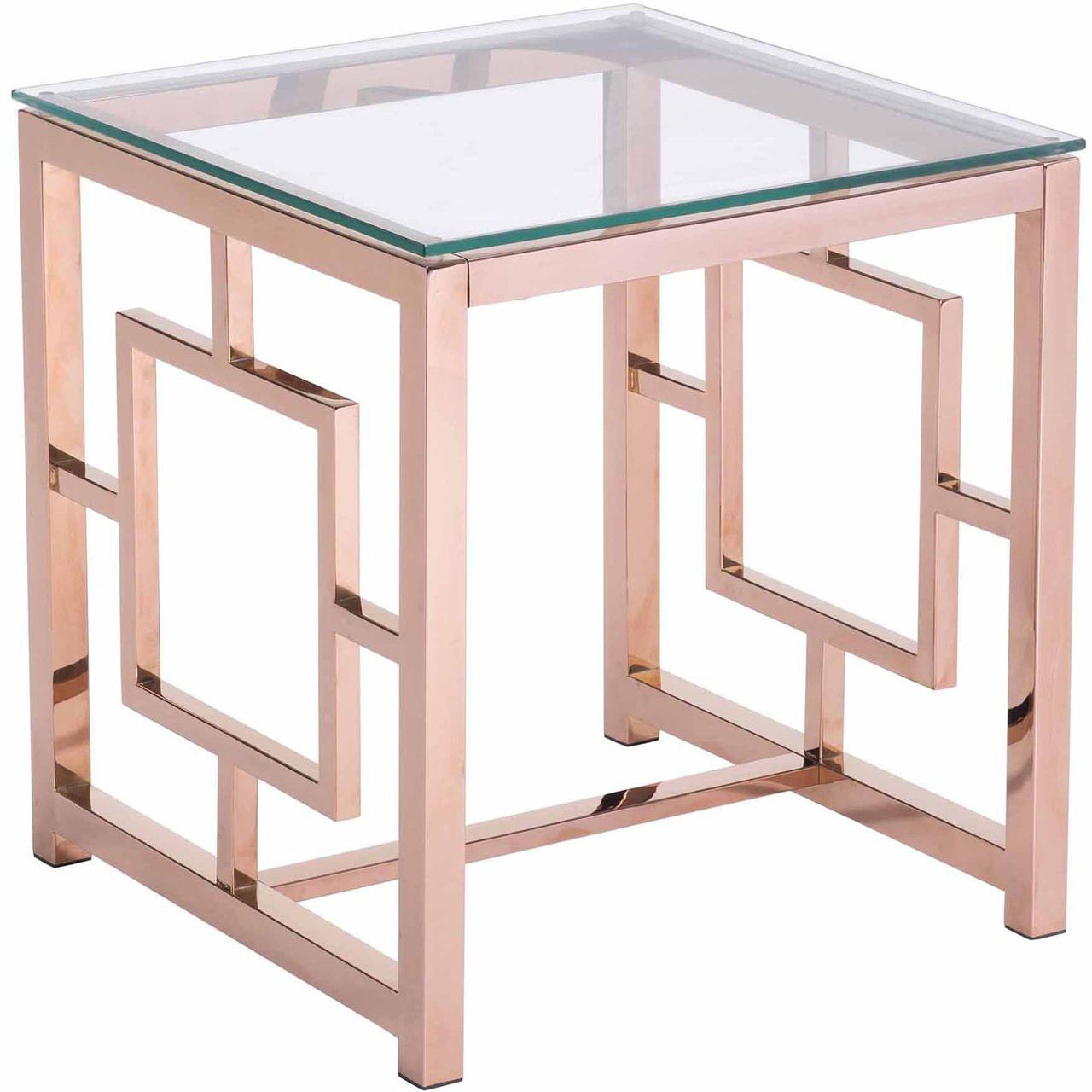 Geranium Side Table Rose Gold Side Table In Rose Gold