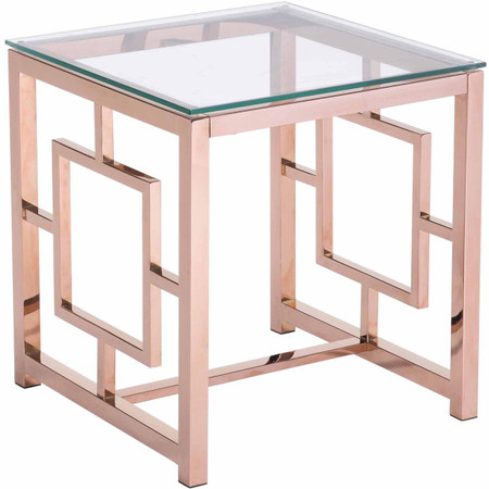 Zuo Modern Geranium Side Table Rose Gold