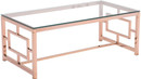 Zuo Modern Geranium Coffee Table Rose Gold