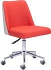 Season Office Chair Orange & Beige