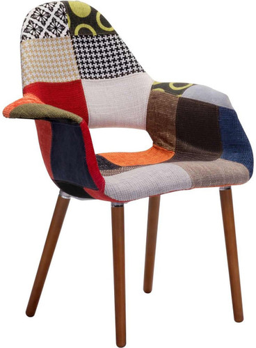 zuo moshe occasional chair patchwork multicolor