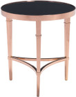 Zuo Elite Side Table Rose Gold And Black