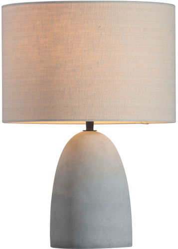 Vigor Table Lamp Beige & Concrete Gray